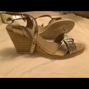 Gold Sperry Top Sider Wedge
